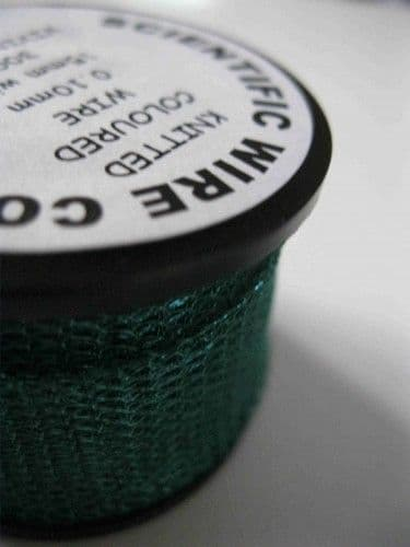 Knitted Craft Wire - 15mm x 3m - Vivid Green