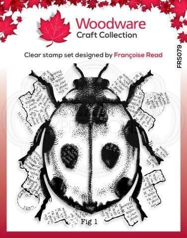 Ladybird Clear Woodware Stamp (FRS079)
