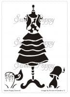 Laura (Dress 6) Sweet Poppy Stencil