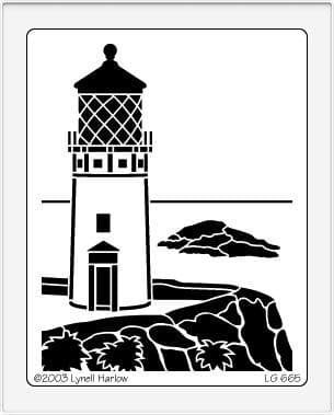 Lighthouse Dreamweaver Stencil (LG665)