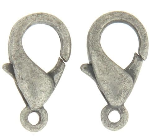 Lobster Clasp (5) - Antique Silver