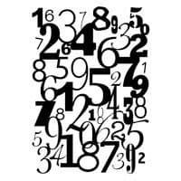 Number Background Clear Woodware Stamp (FRS242)