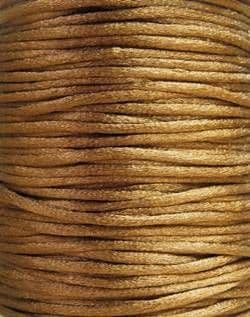 Nylon Rattail Cord - Brown (2.5mm) -1 metre