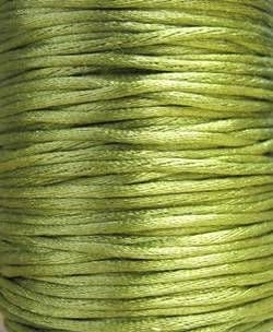 Nylon Rattail Cord - Lime (2.5mm) - 1 metre