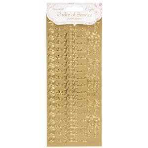 Order of Service - Gold Peel-Off Sticker