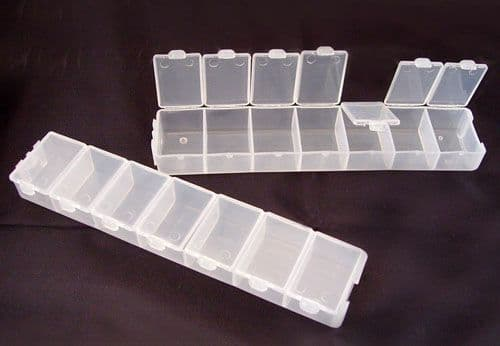 Plastic Beads Storage Container, 3.3cm wide, 15.5cm long, 1.8cm high (Single Box Supplied)