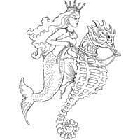 Seahorse Ride Stampendous Cling Stamp (CRR226)