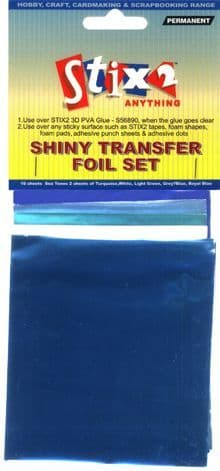 Shiny Transfer Foil Set - Sea Foam (10 sheets)