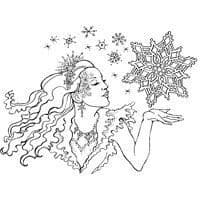 Snow Queen Stampendous Cling Stamp (CRR237)