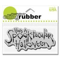 Spooktacular Halloween Stampendous Cling Stamp (CRL174)