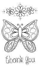Squiggly Mini 11 PaperArtsy Stamp (Butterfly) (SM11)