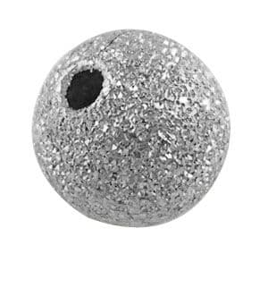 Stardust Beads - Nickel Colour - 10mm (10 beads)