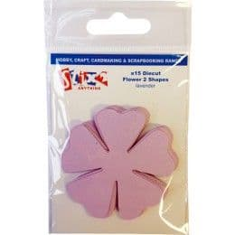 Stix2 Die Cut Shapes - Flower 2 - Lavender (15)