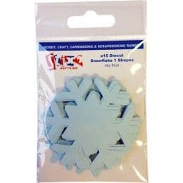 Stix2 Die Cut Shapes - Sky Blue Snowflake 1