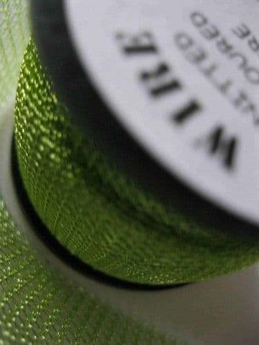 Supa Green chartreuse  0.1mm Knitted Wire (15mm wide x 1m)