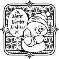 Sweater Snowman Stampendous Cling Stamp (CRW158)
