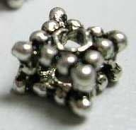 Tibetan Silver Beads - Antique Silver - Cube (Pack of 25)