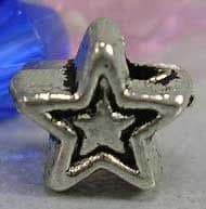 Tibetan Silver Beads - Star Shape - Antique Silver Colour - 5.1mm (approx 25 beads)
