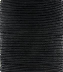 Wax Cotton 2mm - Black (one metre)