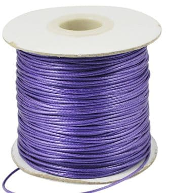 Waxed Polyester Cord 1mm - Purple (one metre)