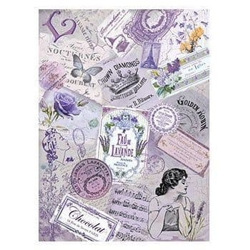 A4 Rice Paper - 200 lavender French labels
