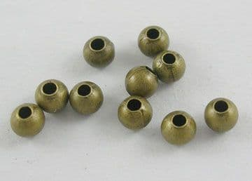 Antique Bronze Round Iron Spacer Beads (3mm) Pack of 100