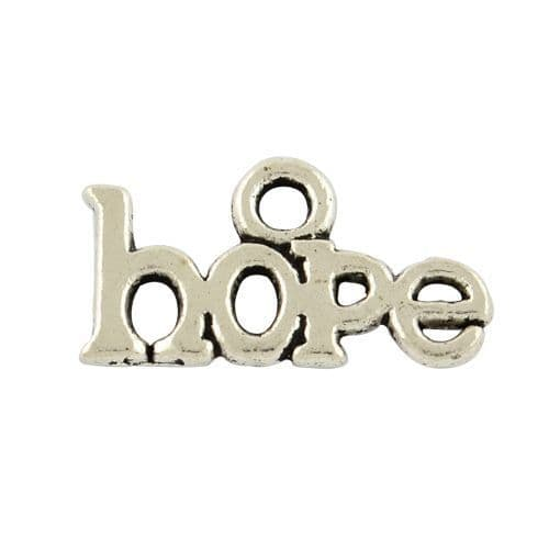 Antique Silver Tibetan Style Hope Charms (5)