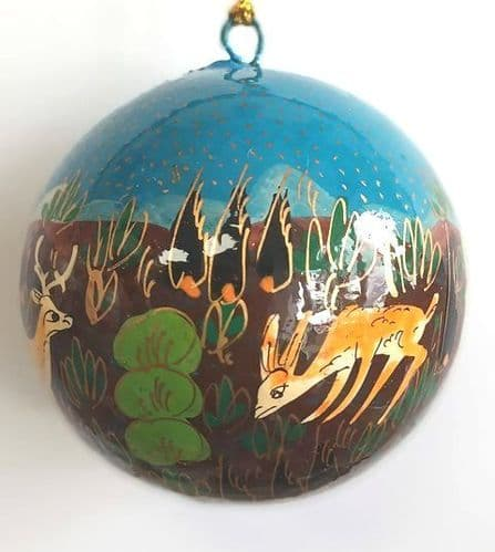 Bauble - Forest Friends Sky Blue