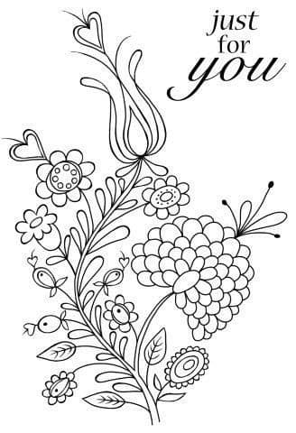 Bold Blooms Charlotte Clear Woodware Stamp  (JGS514)