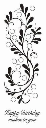 Bubble Bloom Border Woodware Clear Stamp (JGS552)