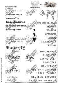 Chocolate Baroque France Papillon Perfect Words Rubber Stamp