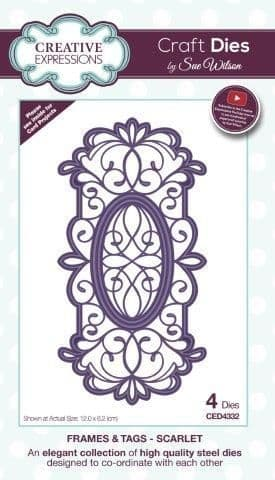 Creative Expressions Frames & Tags Collection Scarlet Die (CED4332)