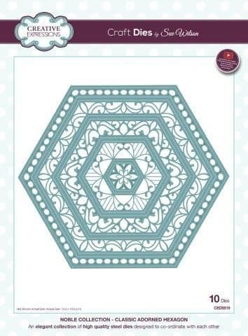 Creative Expressions Noble collection Classic Adorned Hexagon Die (CED5519)