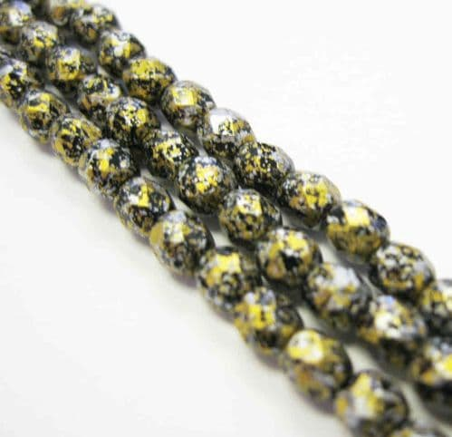 Czech Fire Polished Beads - 4mm - Tweedy Gold (50)