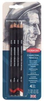 Derwent Charcoal Pencils Blister of 4