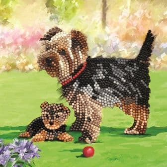 Dogs Crystal Art Card Kit