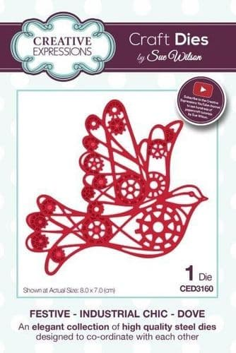 Dove Festive Industrial Chic Die (CED3160)