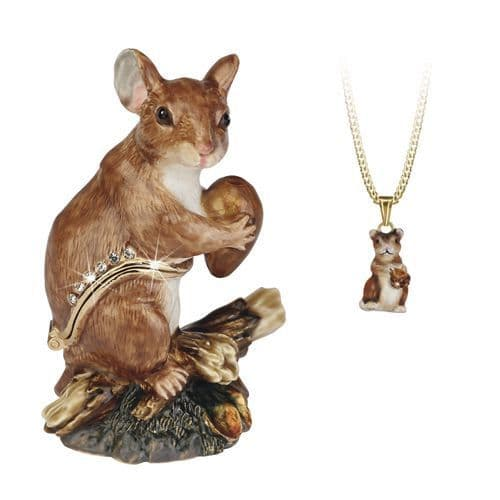 Field Mouse Trinket Box and Necklace