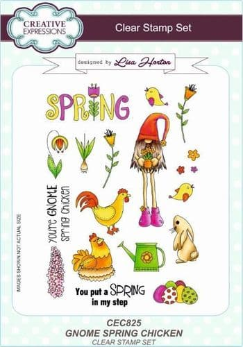 Gnome Spring Chicken A5 Clear Stamp Set
