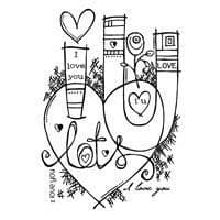 Graffiti Love Clear Woodware Stamp (FRS608)