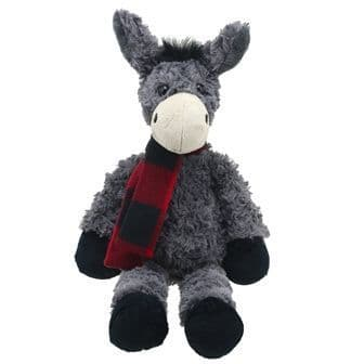 Grey Large Donkey Wilberry Toy
