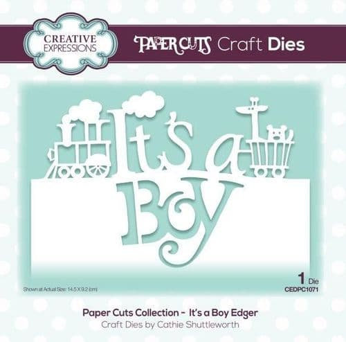 It's a Boy Edger Creative Expressions Die (CEDPC1071)