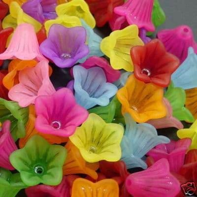 Lucite Leaves and Flowers