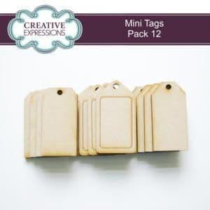 MDF Mini Tags pk of 12