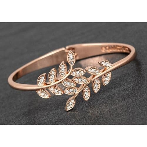 Meeting Leaves Rose Gold Plated Bangle