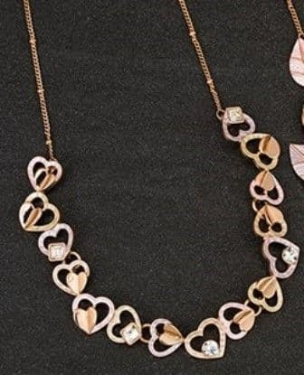 Muted Tones Hearts Necklace
