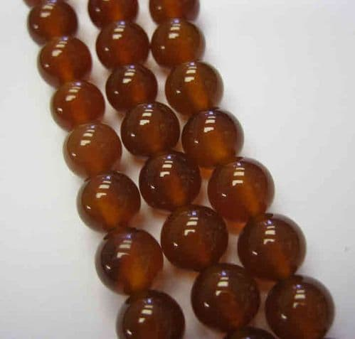 Natural Red Agate 8mm Beads (24)
