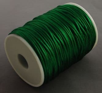 Nylon Rattail Cord - Dark Green (2mm) - 1 metre
