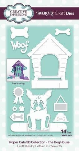 Papercuts 3D Collection the Dog House Die Sue Wilson Die (CEDPC1016)