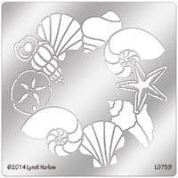 Seashell Wreath Dreamweaver Stencil (LG759)